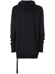 Unravel Project Long Line Hoodie Black