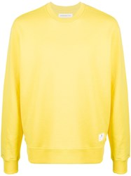 Department 5 Long Sleeve Fitted Sweatshirt Yellow