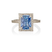 Cathy Waterman Sapphire And Diamond Ring