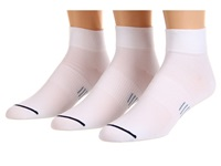 Wrightsock Ultra Thin Qtr 3 Pair Pack White Quarter Length Socks Shoes