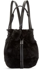 Opening Ceremony Black Shearling Mini Izzy Backpack