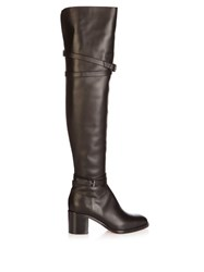 Christian Louboutin Karialta 70Mm Over The Knee Leather Boots Black