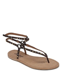 Lucky Brand Flat Thong Sandals Advita Strappy Studded