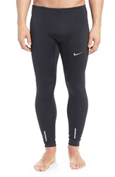 Nike Men's Dri Fit Tech Running Tights Black Reflective Silver