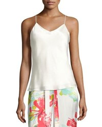 Josie Natori Key Essentials Silk Camisole White