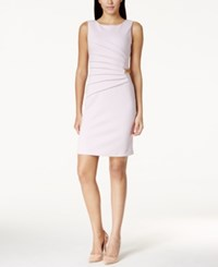 Ivanka Trump Pleated Chain Link Sheath Dress