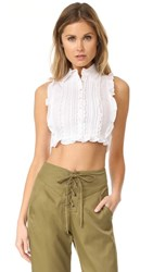 Marissa Webb Marcy Dickie Top White