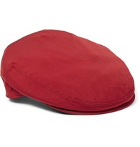 Loro Piana Roadster Shell Flat Cap Red