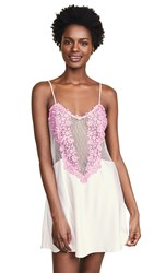 Flora Nikrooz Showstopper Charmeuse Chemise With Lace Mauve