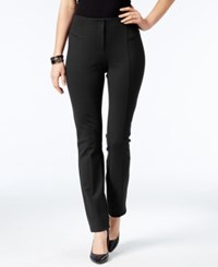 Alfani Petite Faux Leather Trim Skinny Pants Only At Macy's Deep Black