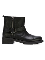 P.A.R.O.S.H. Buckled Ankle Boots Black