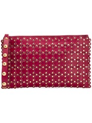 Red Valentino V Flower Puzzle Clutch Red