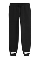 Off White Cotton Logo Sweatpants Black