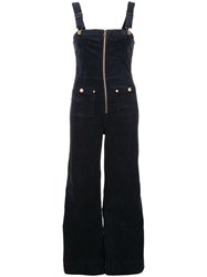 Alice Mccall Quincy Pinafore Overalls Blue