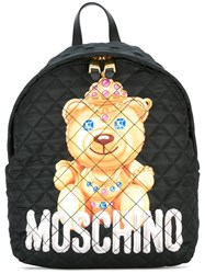 Moschino Quilted Bear Backpack Black