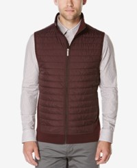 Perry Ellis Men's Big And Tall Puffer Quilted Vest Red