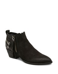 Dolce Vita Saylor 3 Zipper Leather Booties Black