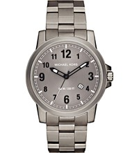Michael Kors Mk8534 Paxton Titanium And Stainless Steel Watch