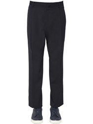 Lanvin 23Cm Wool Twill Pants Blue