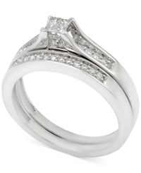 Macy's Diamond Bridal Set 1 4 Ct. T.W. In 14K White Gold