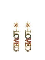 Gucci Loved Crystal Embellished Earrings Multi
