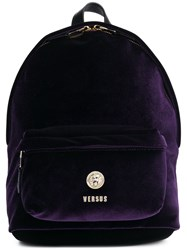 Versus Logo Mini Backpack Pink And Purple