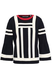 Chinti And Parker Intarsia Cotton Sweater Navy