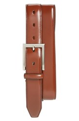 Men's Big And Tall Johnston And Murphy Calfskin Belt Saddle Tan
