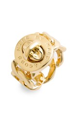 Women's Marc By Marc Jacobs 'Turnlock Katie' Ring Gold