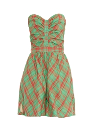 Rachel Comey Farers Plaid Check Cotton Playsuit