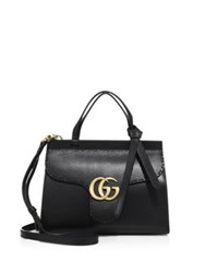 Gucci Gg Marmont Leather Top Handle Bag Red Nero