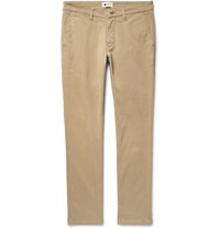 Nn.07 Nn07 Marco Slim Fit Stretch Cotton Twill Chinos Beige