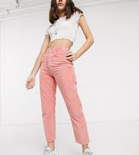 Reclaimed Vintage The '91 Mom Jean Rose Wash Cord Pink