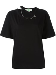 Stella Mccartney 'Falabella' Neckline Chain T Shirt Black