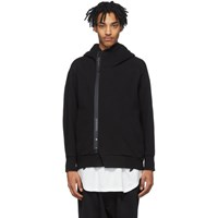 Julius Black Double Face Hoodie