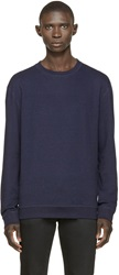 Naked And Famous Navy French Terry Pullover