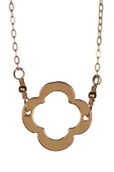 Charlene K 14K Gold Vermeil Clover Charm Necklace Metallic