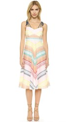 Shoshanna Leia Dress Rainbow Multi