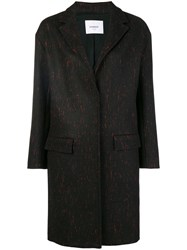 Dondup Loose Fitted Coat Black