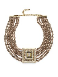 Heidi Daus South Sea Riches Necklace Swarovski Pendant Necklace Gold