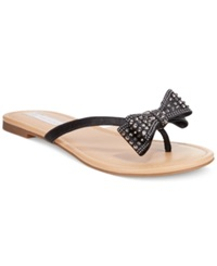Inc International Concepts Women's Malissa Bow Thong Sandals Women's Shoes Black
