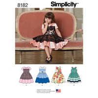 Simplicity Children's Party Dress Sewing Pattern 8182