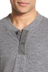 Grayers 'Byron' Double Knit Henley Gray