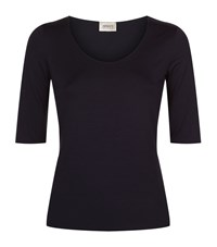 Armani Collezioni Half Sleeve T Shirt Female Blue
