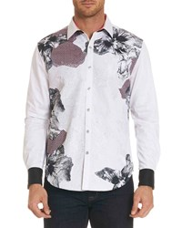 Robert Graham Limited Edition Corporal Floral Print Sport Shirt Multi