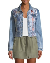 Ramy Brook Gloria Boucle Denim Jacket Blue