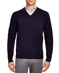 The Men's Store At Bloomingdale's Cashmere V Neck Sweater True Navy
