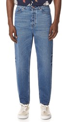 Tom Wood Carrot Denim Jeans Nice Blue