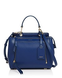 Dkny Small Top Handle Satchel Bright Lapis Gold