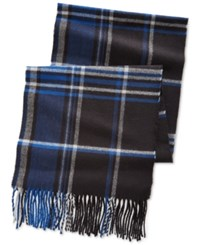 Alfani Red Plaid Scarf Only At Macy's Black Blue
